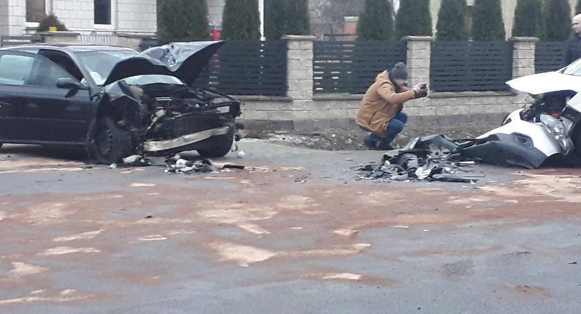 Wypadki, Groźny wypadek Janowie! [FOTO] - zdjęcie, fotografia
