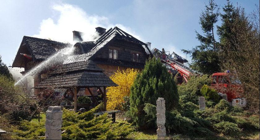 Pożary, Pożar budynku mieszkalnego miejscowości Kruki - zdjęcie, fotografia