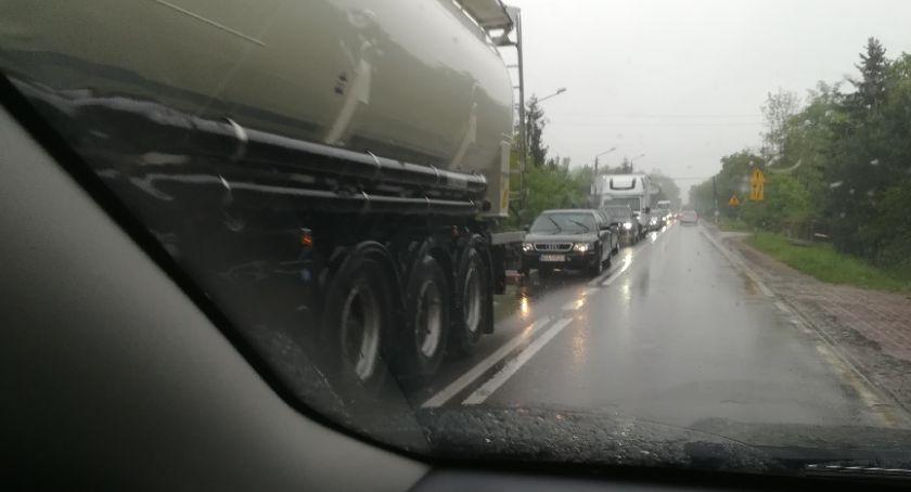 Wypadki, Zderzenie trasie Radom Kozienice [FOTO] - zdjęcie, fotografia