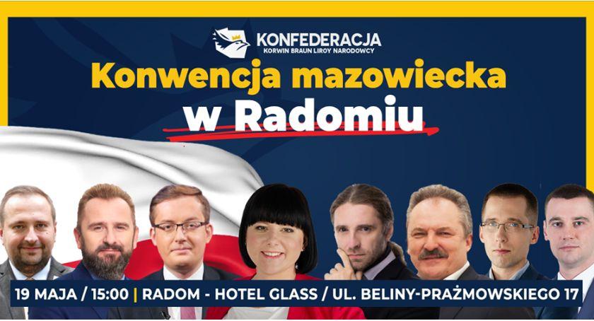 """Wydarzenia, Konwencja """"Konfederacji"""" Radomiu Robert Winnicki specjalnie - zdjęcie, fotografia"""