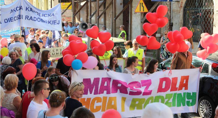 Wydarzenia, Ulicami Radomia przeszedł Marsz Życia Rodziny [FOTO] - zdjęcie, fotografia