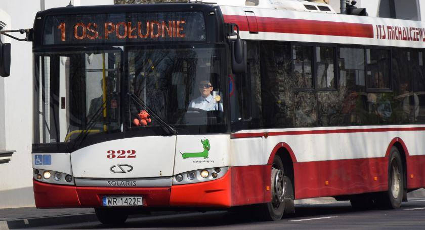 Komunikacja Miejska , Objazdy Borkach autobusów linii - zdjęcie, fotografia