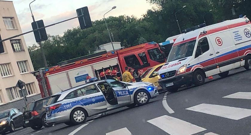 Wypadki, Groźny wypadek skrzyżowaniu Struga/25 Czerwca - zdjęcie, fotografia