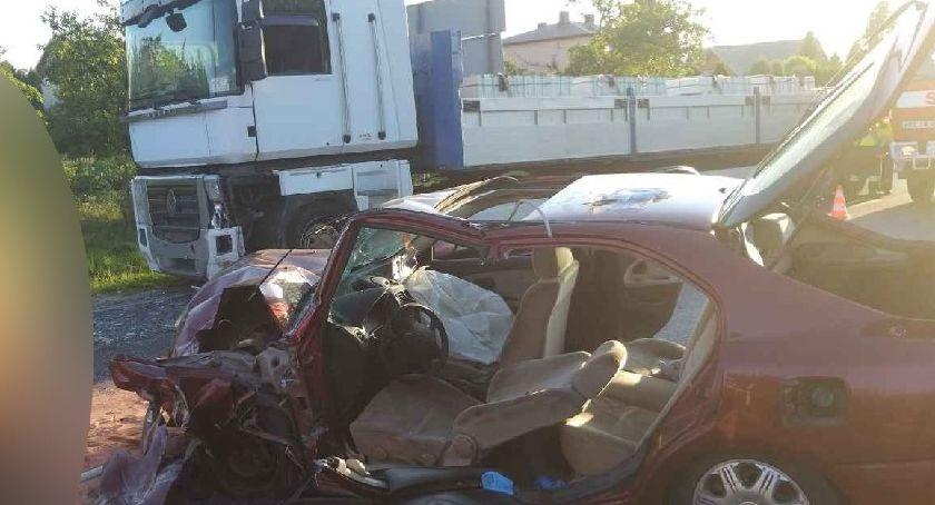 Wypadki, Wypadek Parznicach gminie Kowala - zdjęcie, fotografia