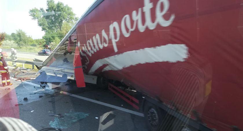 Wypadki, Wypadek Duże utrudnienia kierunku Warszawy! [FOTO] - zdjęcie, fotografia