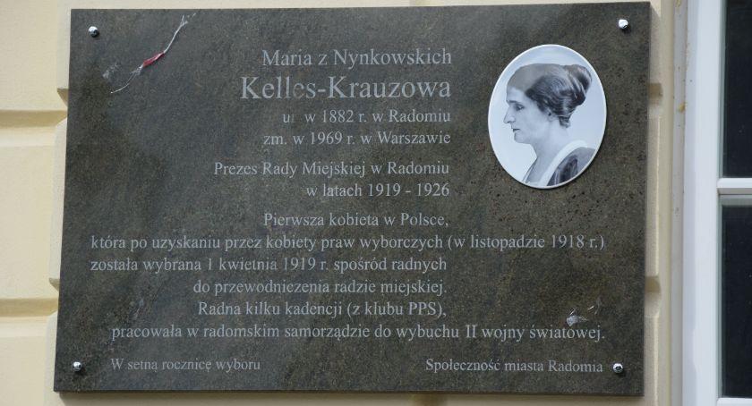 Informacje z Radomia i okolic , Maria Kelles Krauz została upamiętniona [FOTO] - zdjęcie, fotografia