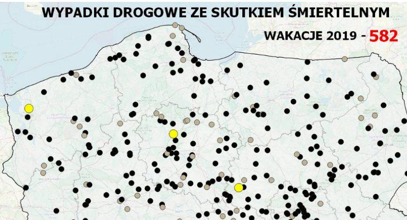Policja Radom/Policja Mazowiecka, wypadków drogowych skutkiem śmiertelnym - zdjęcie, fotografia