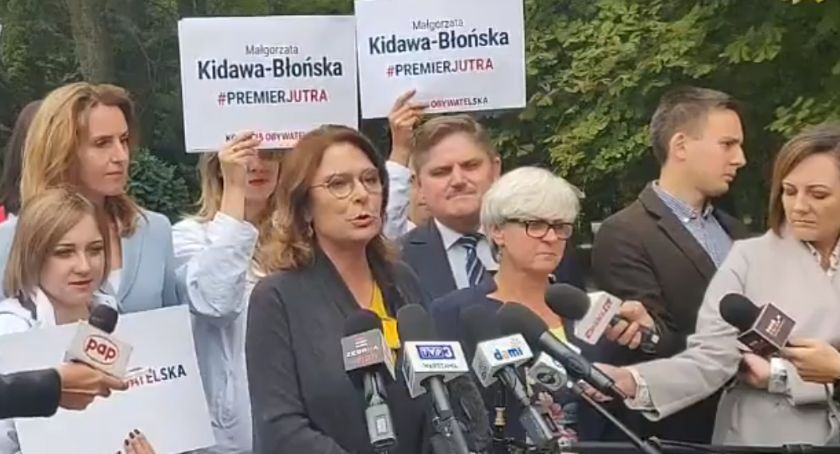 Polityka, Kidawa Błońska Radomiu reformie edukacji płacy minimalnej - zdjęcie, fotografia