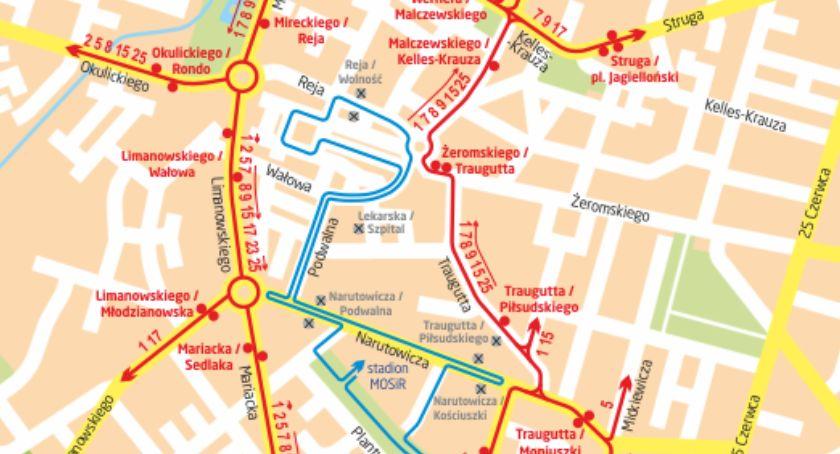 Komunikaty i ogłoszenia, Objazdy autobusów samochodów podczas niedzielnego biegu - zdjęcie, fotografia