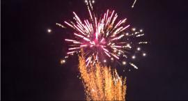 Wyjątkowy pokaz fajerwerków na Nowy Rok w Iłży