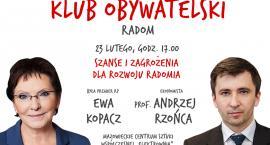 Kolejne spotkanie Klubu Obywatelskiego. Gośćmi będą premier Ewa Kopacz i prof. Andrzej Rzońca