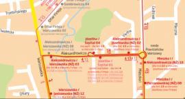 Objazdy dla linii 4 i 13 w okolicy cmentarza