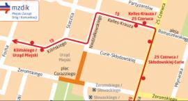 Czasowe zmiany w ruchu i objazd dla linii 19 w dniach 22 i 24 czerwca