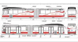 Biało-czerwony autobus z okazji 100-lecia niepodległości