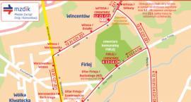 Komunikacja miejska w rejonie cmentarzy [MAPKI]