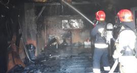 Pożar warsztatu samochodowego w Przytyku