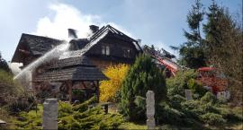 Pożar budynku mieszkalnego w miejscowości Kruki
