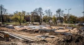 Trwają prace przy rewitalizacji parku na Obozisku