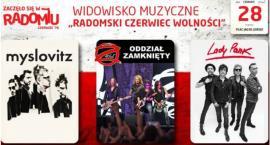 """Widowisko muzyczne """"Radomski Czerwiec Wolności"""". Wystąpią Lady Pank, Oddział Zamknięty i Myslovitz"""