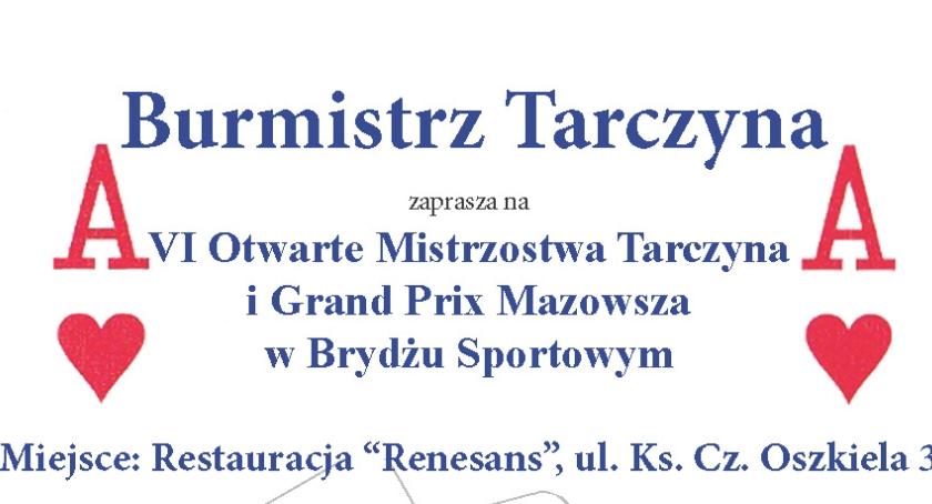 Rekreacja, Otwarte Mistrzostwa Tarczyna Grand Mazowsza Brydżu Sportowym - zdjęcie, fotografia