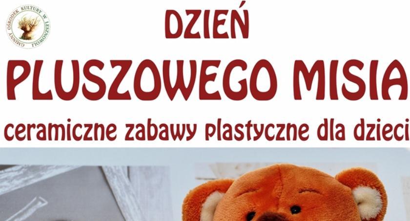 Kultura, Dzień Pluszowego Misia ceramiczne zabawy plastyczne dzieci Władysławów 2017) - zdjęcie, fotografia