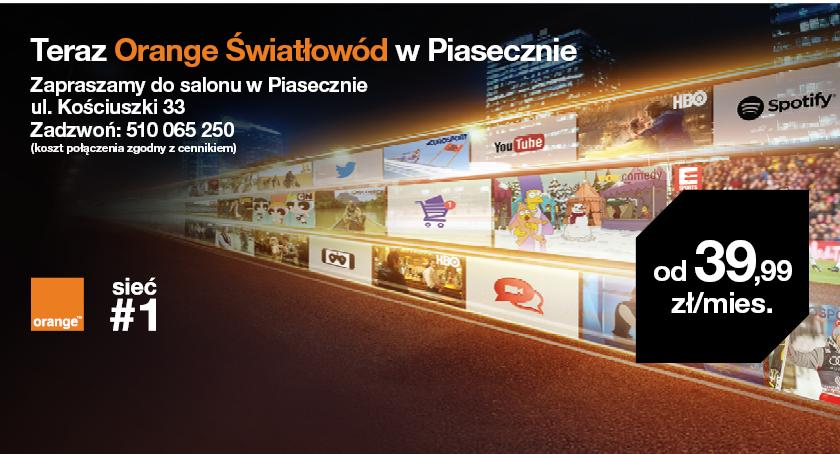 Inwestycje , Orange Światłowód mieszkańców Piaseczna - zdjęcie, fotografia