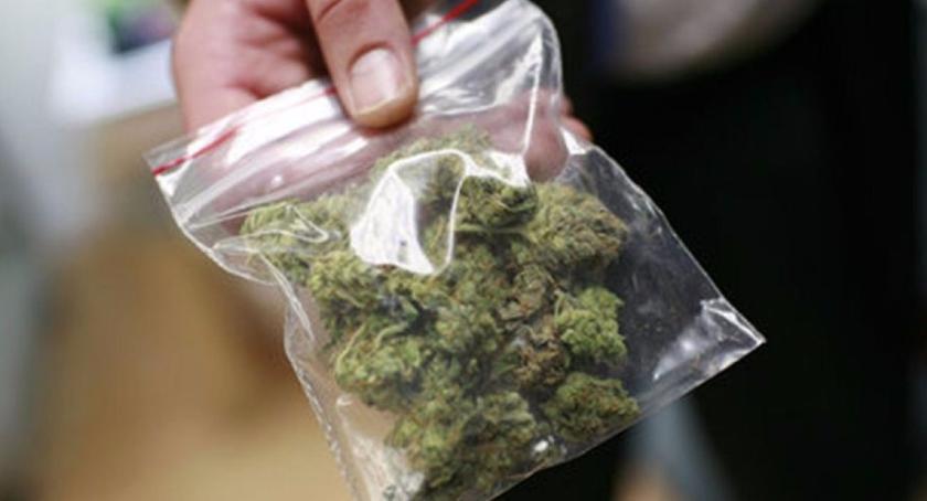 Kronika policyjna, marihuaną kieszeni - zdjęcie, fotografia