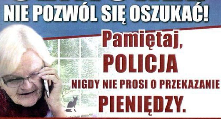 Kronika policyjna, Policja apeluje zwiększanie świadomości społecznej metod działania oszustów - zdjęcie, fotografia