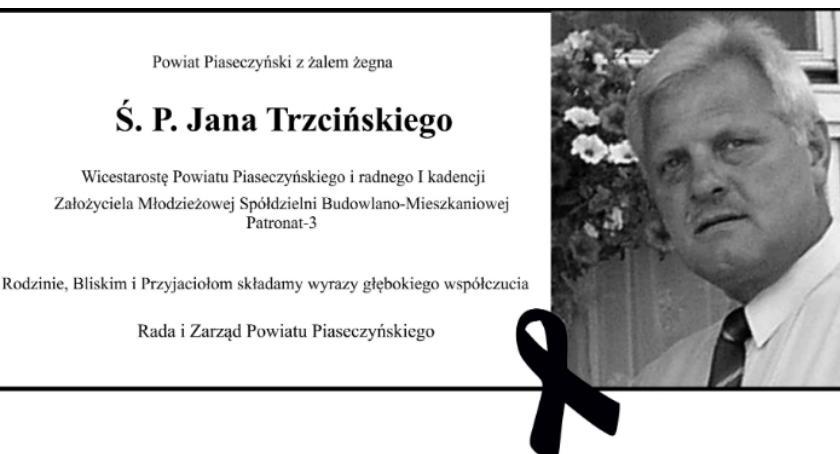 Sprawy lokalne, Zmarł Trzciński pogrzeb kwietnia - zdjęcie, fotografia