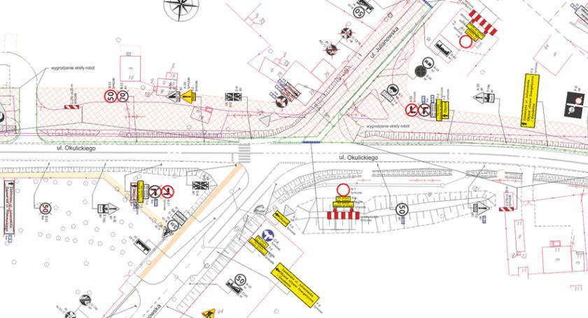 Inwestycje , Zamknięcie części skrzyżowania Okulickiego Julianowskiej - zdjęcie, fotografia
