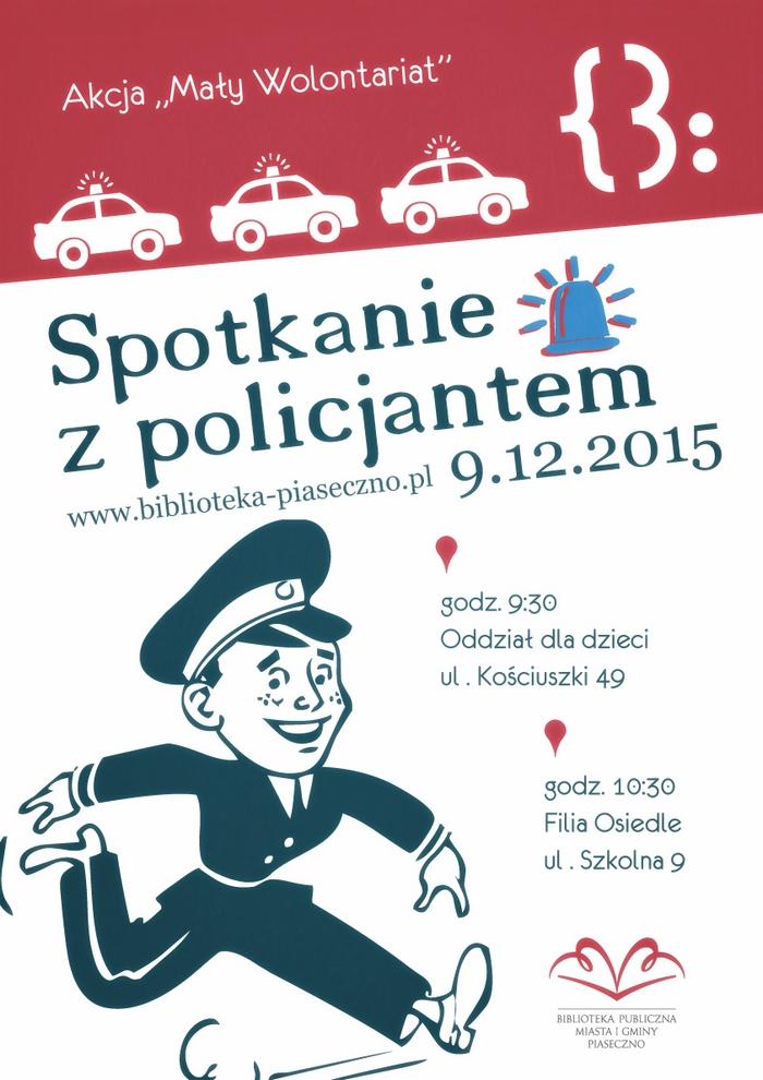 Sprawy lokalne, Spotkanie policjantem - zdjęcie, fotografia