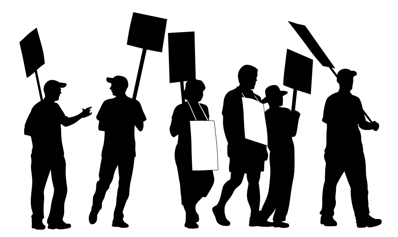 Sprawy lokalne, Protest Bobrowcu - zdjęcie, fotografia