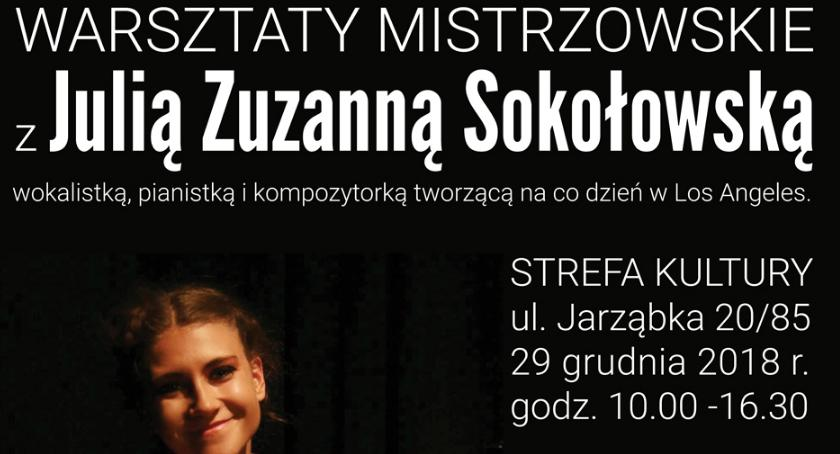 Kultura, Warsztaty Julią Sokołowską - zdjęcie, fotografia