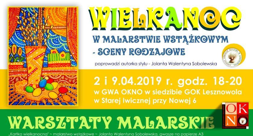 Kultura, Wielkanoc malarstwie wstążkowym sceny rodzajowe Warsztaty Stara Iwiczna(02 - zdjęcie, fotografia