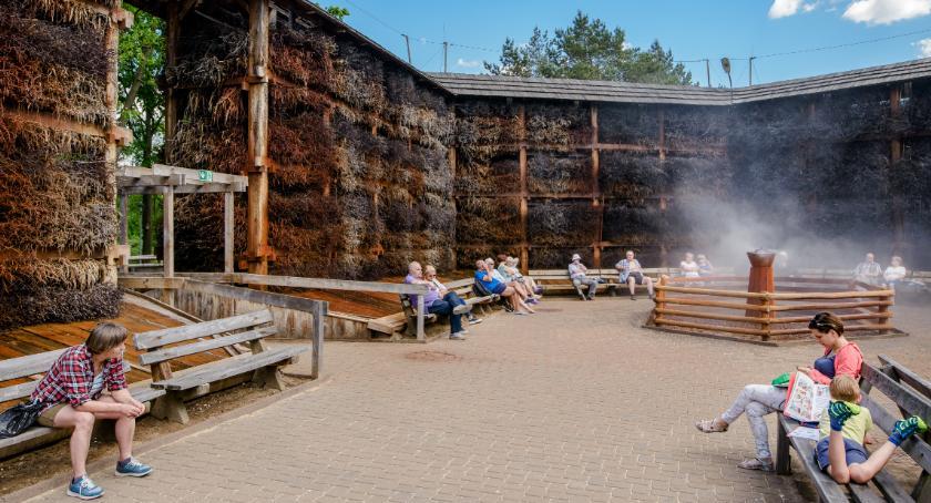 Zdrowie, Konstancińska tężnia solankowa inhalatorium wolnym powietrzu walor turystyczny regionu - zdjęcie, fotografia