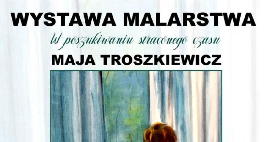 Wystawy, Troszkiewicz malarstwo Stara Iwiczna 2019) - zdjęcie, fotografia