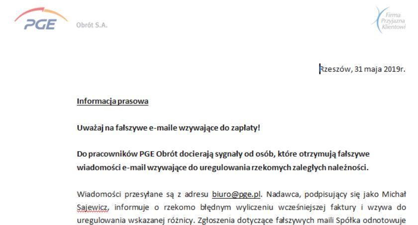 Sprawy lokalne, Uważaj fałszywe maile wzywające zapłaty - zdjęcie, fotografia
