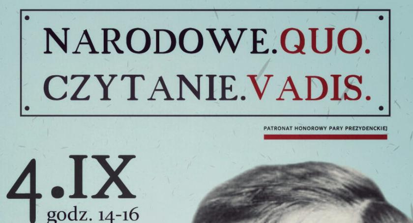 Książka, Narodowe Czytanie vadis - zdjęcie, fotografia