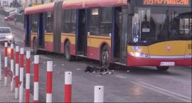 Wypadek z udziałem autobusu linii 709
