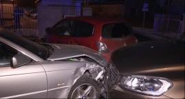 Jedna osoba ranna, cztery auta poważnie rozbite w Głoskowie