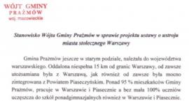 Stanowisko Wójta Gminy Prażmów w sprawie zmiany ustroju m.st. Warszawy