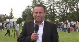 Krótka wypowiedź Jana Adama Dąbka na Święcie Policji w Lesznowoli