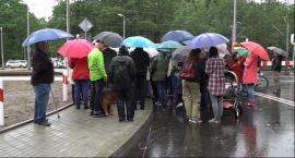 Protest mieszkańców Zalesia Górnego