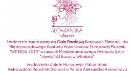 WITEBSK 2019 Konkurs Wykonawców Estradowej Piosenki