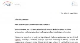 Uważaj na fałszywe e-maile wzywające do zapłaty