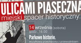 Spacer z przewodnikiem po parku w Piasecznie