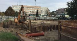 Postęp prac na Skwerze Kisiela