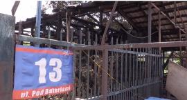 Spalony sklep w Zalesiu Dolnym