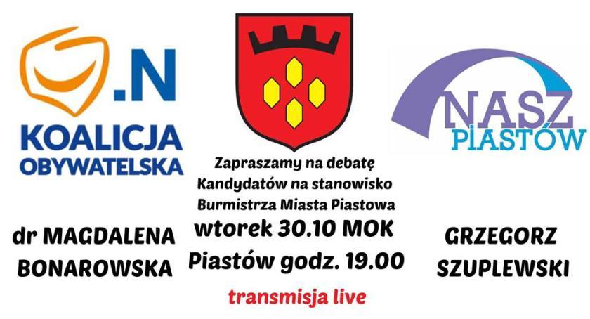 Burmistrz, Debata kandydatów Burmistrza Miasta Piastowa - zdjęcie, fotografia