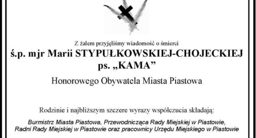 """Burmistrz, Żegnamy Marię Stypułkowską Chojecką """"Kama"""" - zdjęcie, fotografia"""